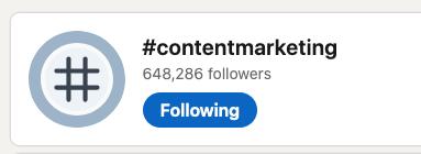 You can follow hashtags on LinkedIn.