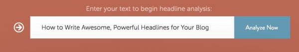 Headline Analyzer helps you write good, enticing headlines.