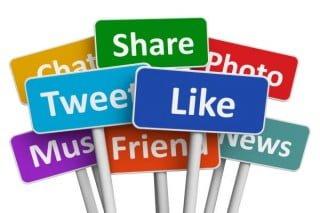 social media likes and shares